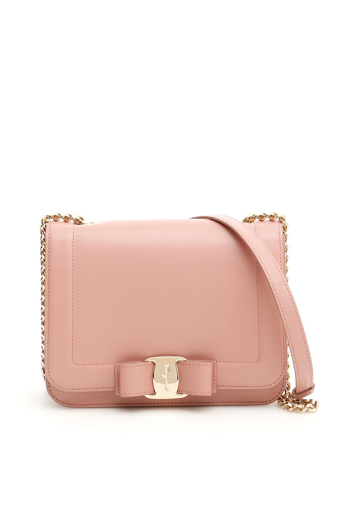 d72e3aeee2dd Salvatore Ferragamo Leather Vara Rainbow Bag In Pink