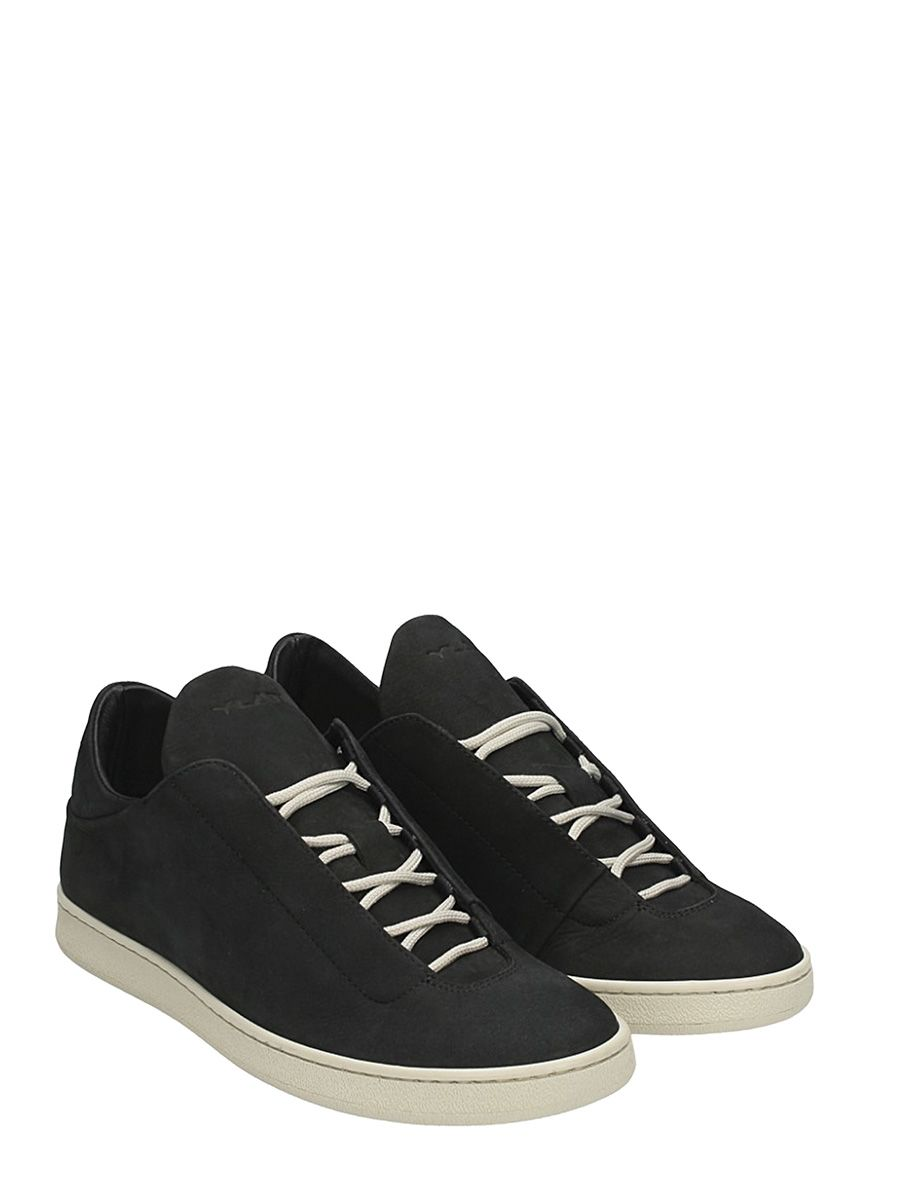 Ylati Chaussures Virgilio Baskets Basses En Daim Noir PnHovbo0Av