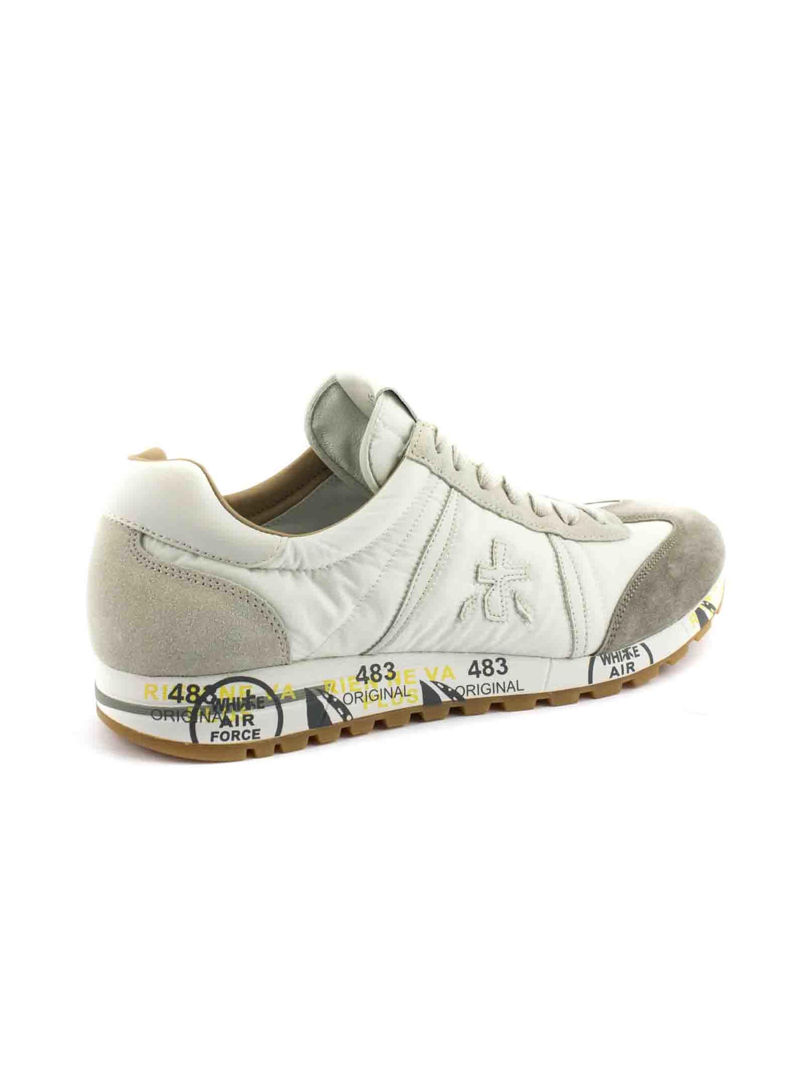 Lucy Chaussure En Cuir Velours Gris Nylon Supérieure Et Blanc N7BTWIF