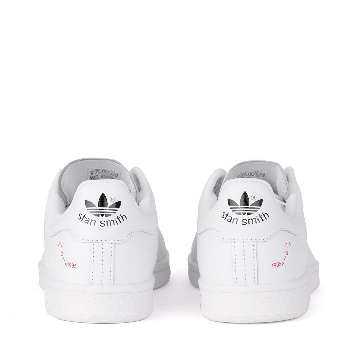 check out 57240 334da ... Raf Simons Sneaker Adidas By Raf Simons Stan Smith In Pelle Bianca -  BIANCO