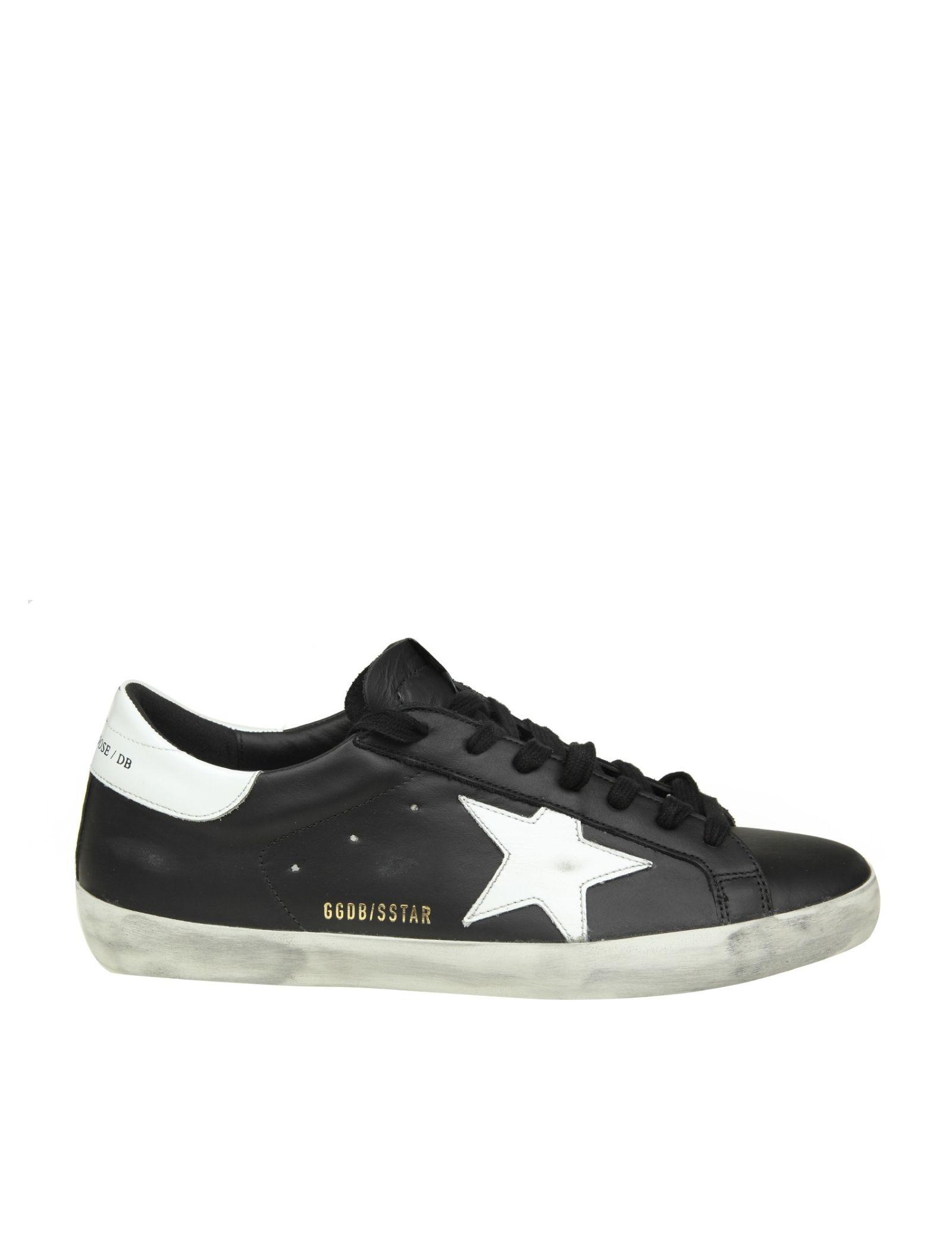 453bc92c86ea0 Golden Goose Superstar Sneakers In Black Leather - Black ...