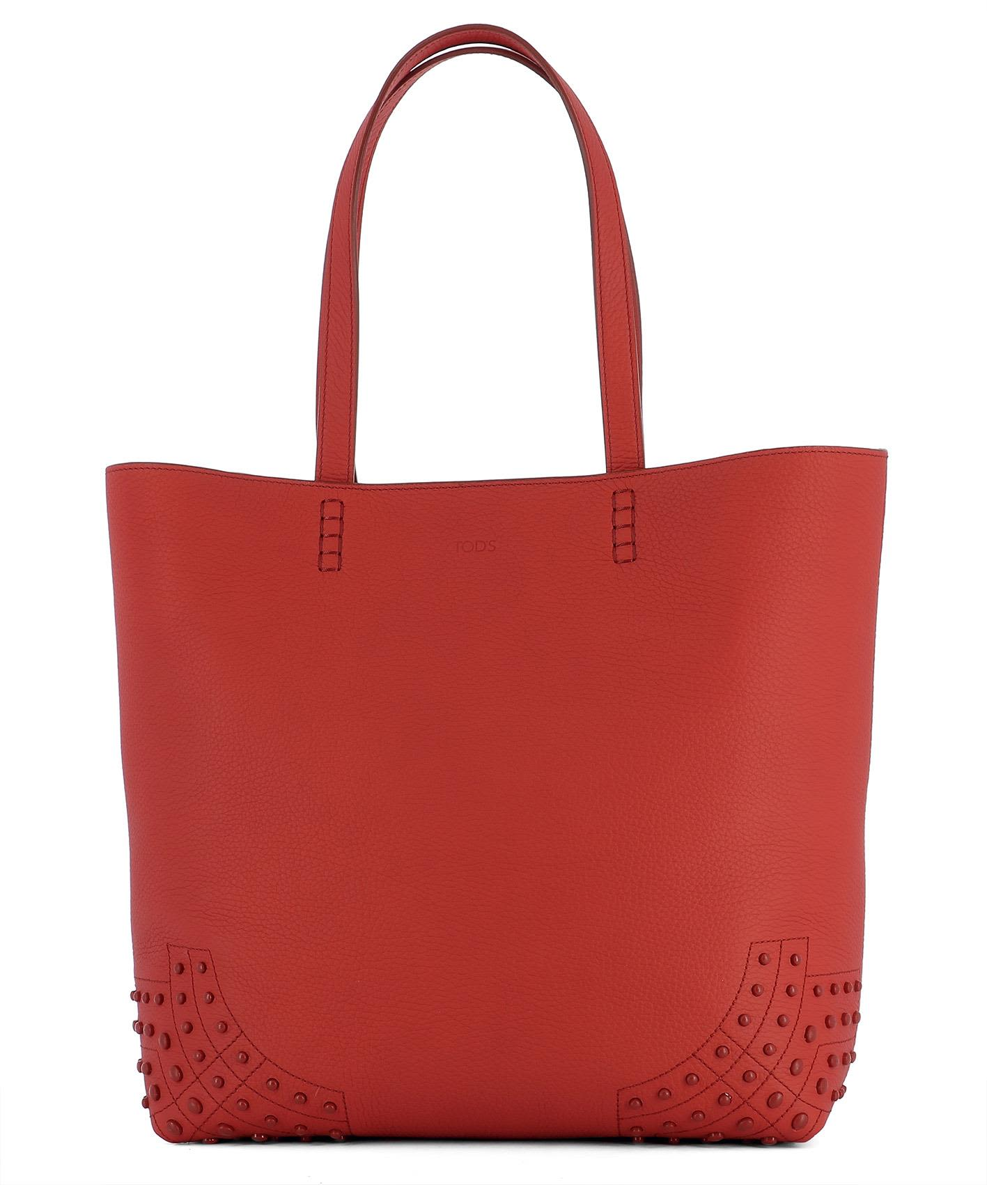 eefda9b1ce italist | Best price in the market for Tod's Red Leather Shoulder ...