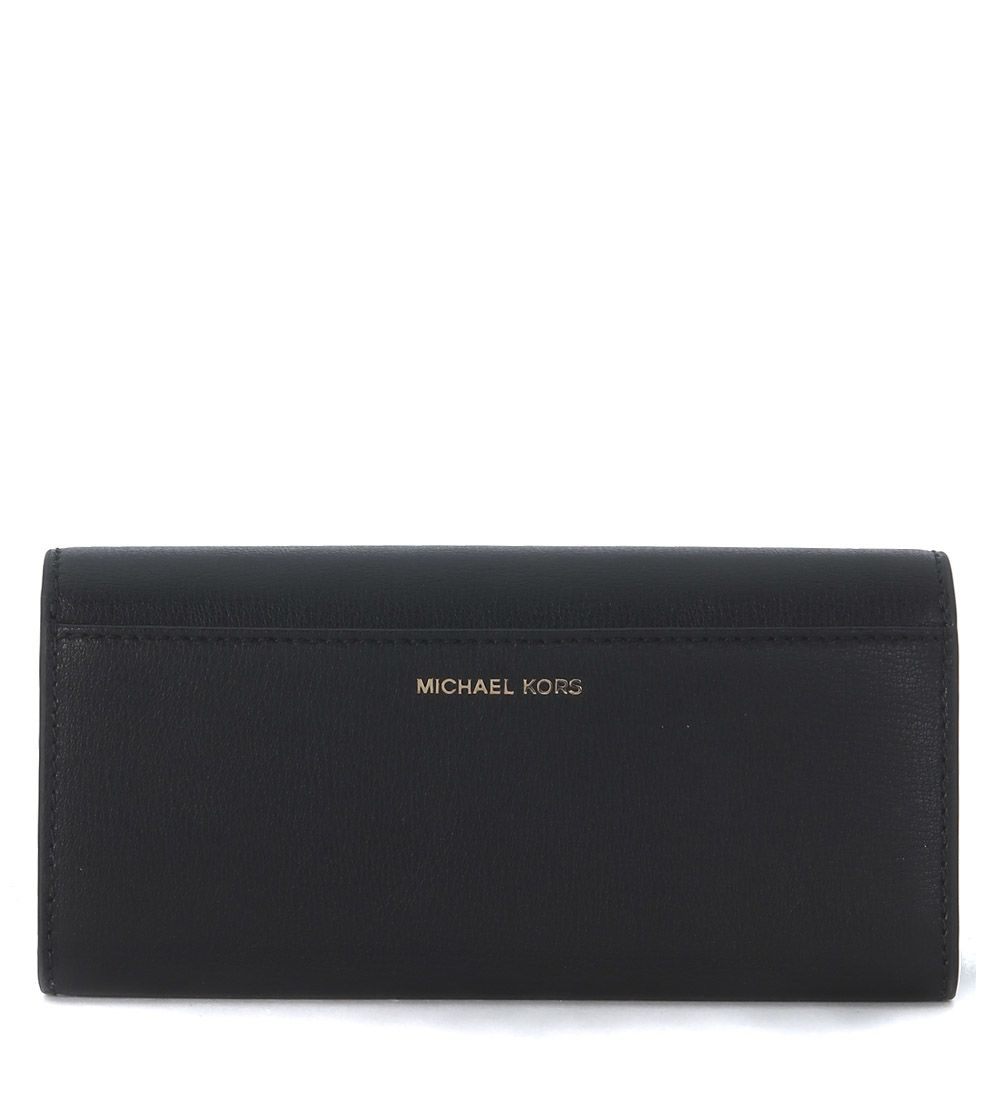 98285c780525 ... Michael Kors Rivington Black Leather Wallet With Studs - NERO ...