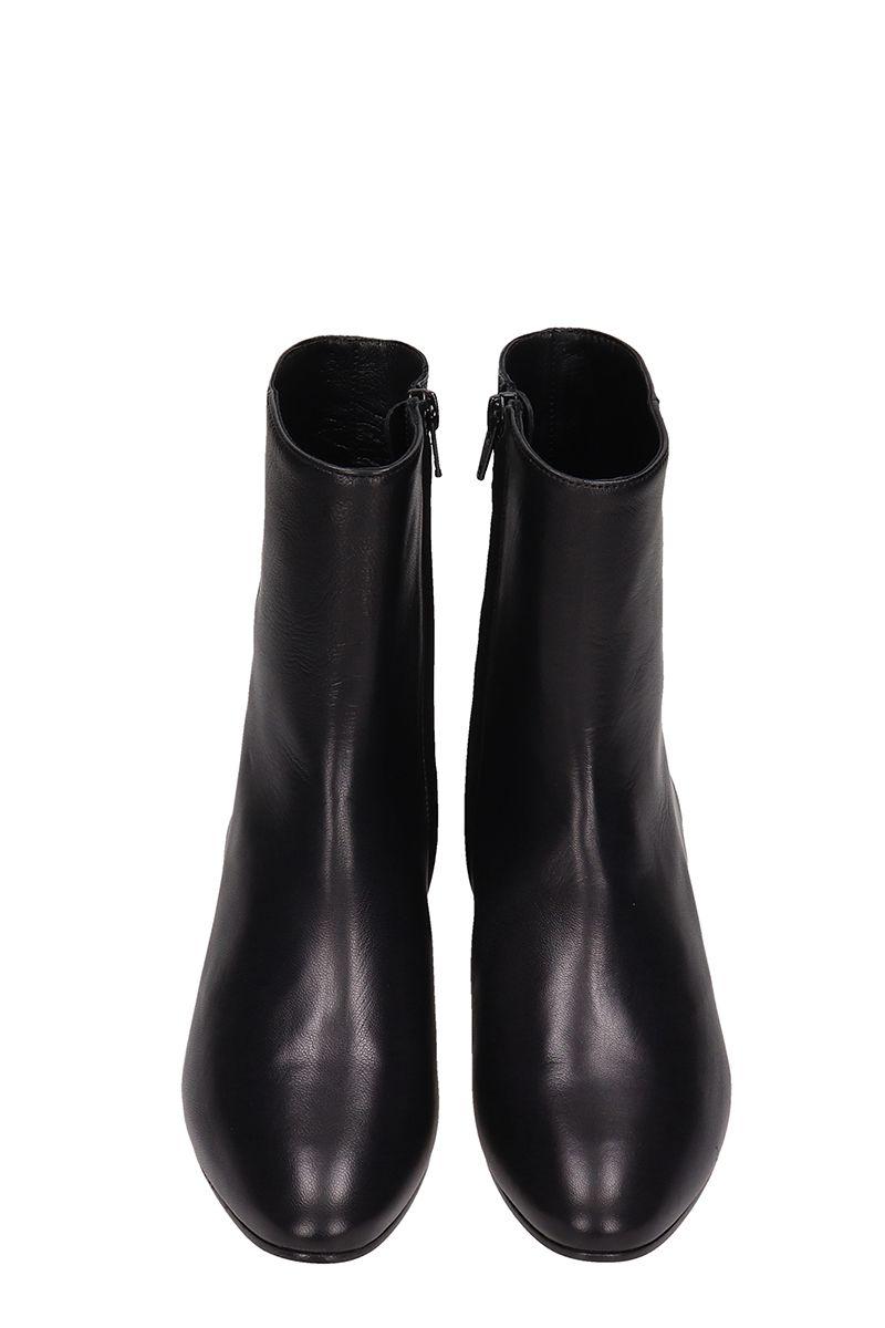 31b42e7bbe1b ... Marc Ellis Black Leather Ankle Boots - black ...
