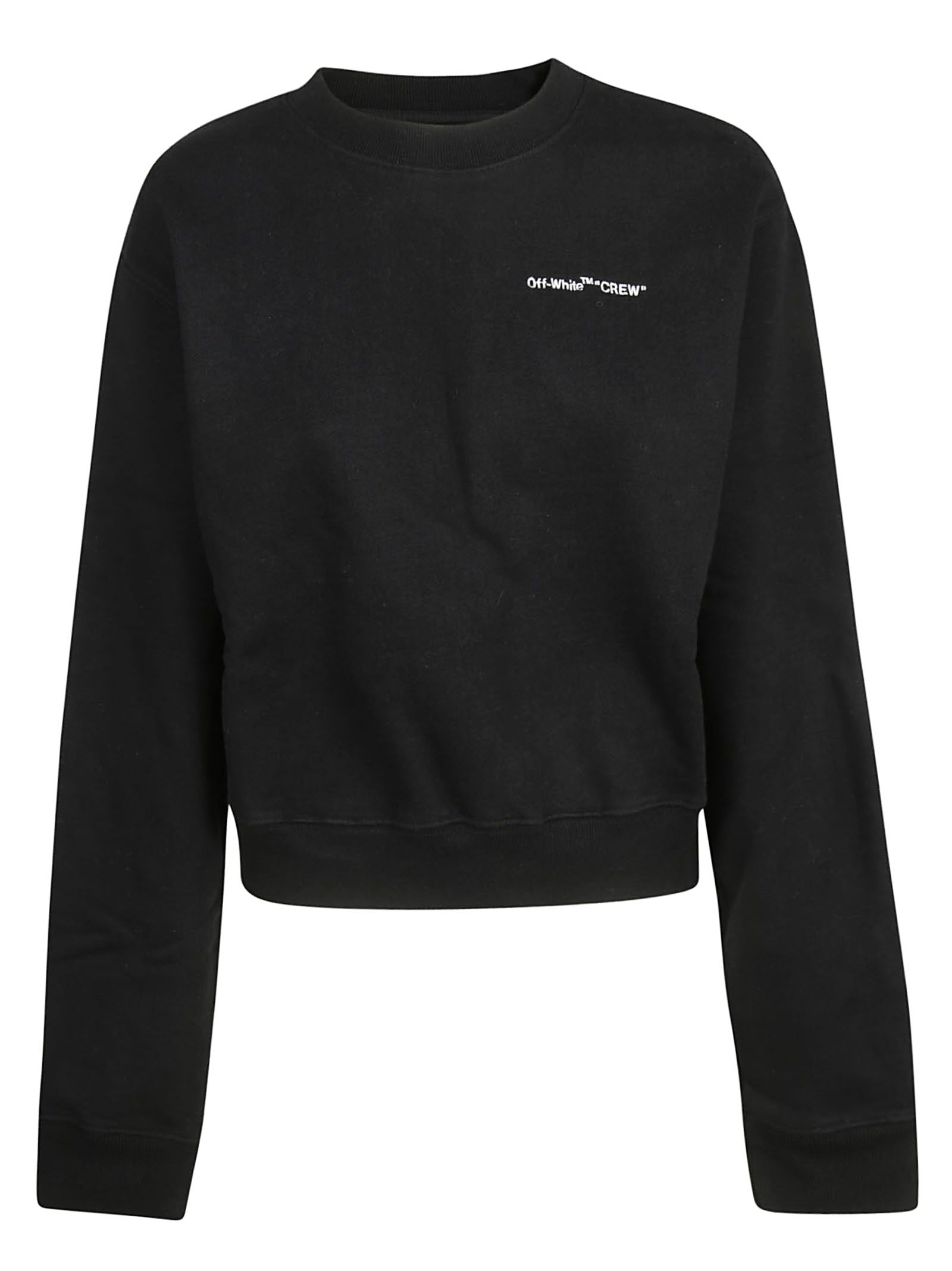 910490aa11f9 Off-White Logo Print Sweatshirt - Black White ...