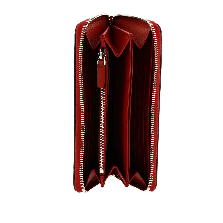 ... Valentino Garavani Wallet Valentino Rockstud Spike Continental Wallet  With Zip Around And Studs Edges - red ... ec8bb411889cc