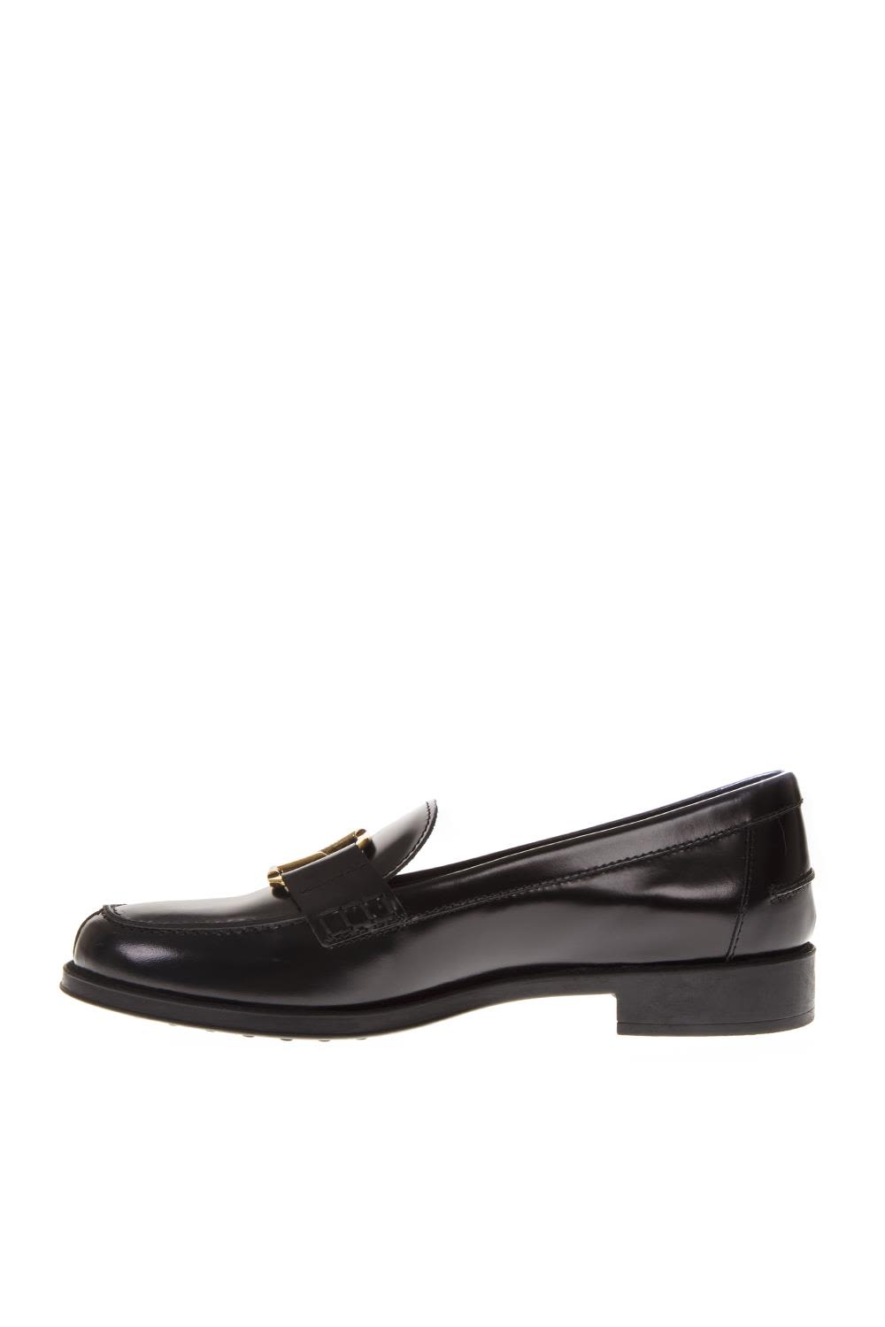 02ad8a9a0fd ... Tod s Black Leather Loafers - Black