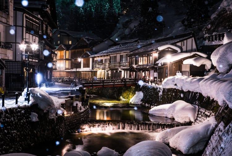 ginzan-onsen hot spring