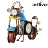 """POPART Blue Bike Table Clock With 4"""" Dail"""