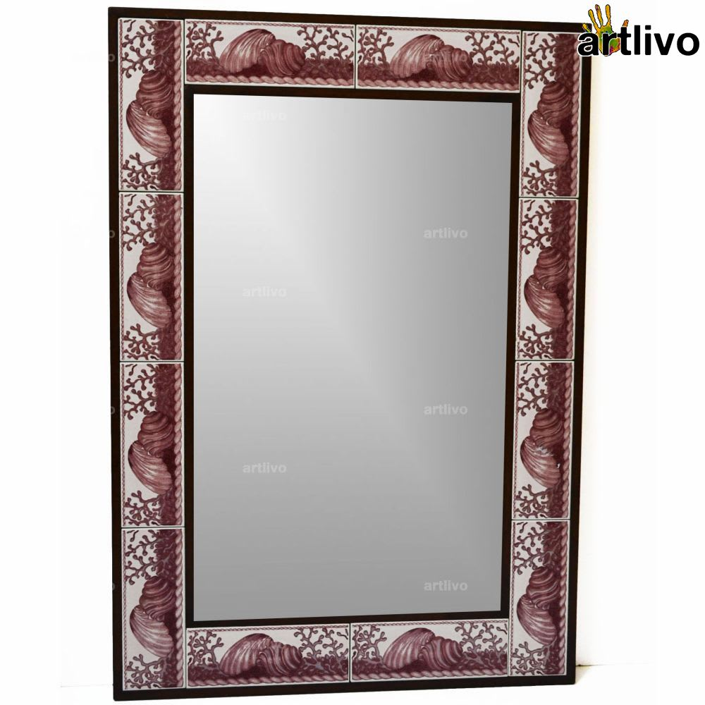 "32"" Decorative Wall Hanging Tile Mirror Frame - MR060"