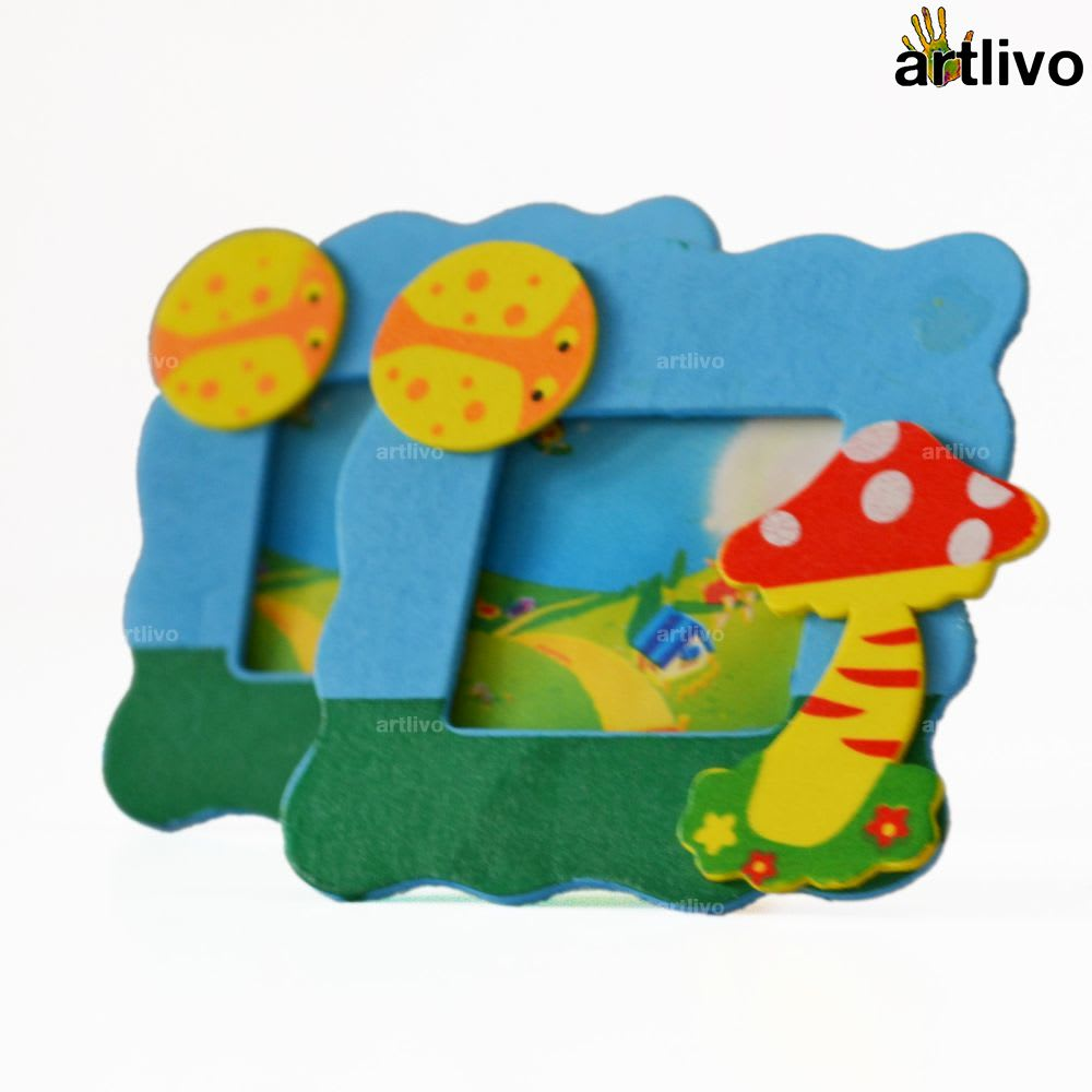 Kids Mini Photo Frame - Mushroom - Set of 2