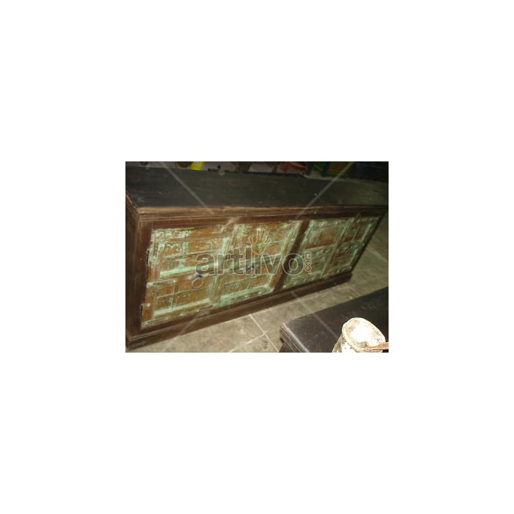 Antique Indian Carved magnificent Solid Wooden Teak Sideboard