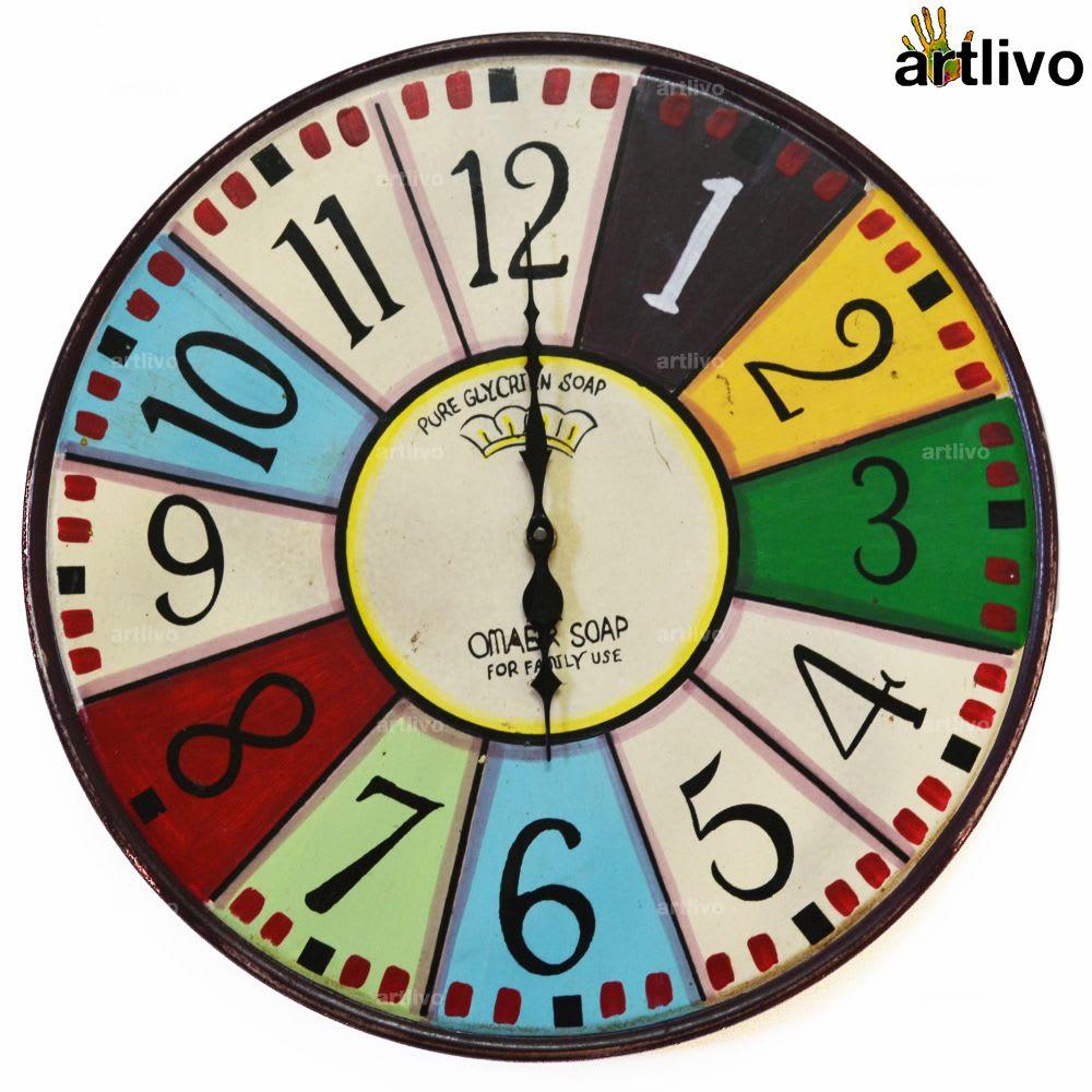 POPART Vibgyor Round clock - English