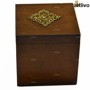 Wooden Ganesha Laddu Box