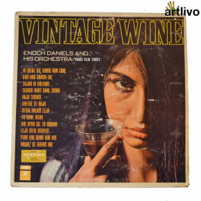 VINTAGE Gramophone Record - Vintage Wine (With Cover)