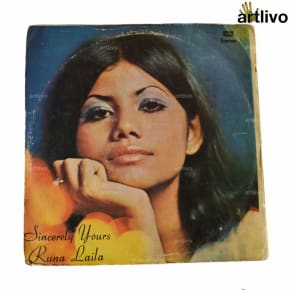 VINTAGE Gramophone Record - Runa Laila (With Cover)