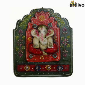 Ganpati Key Hooks (Green orange white)