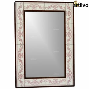 "32"" Decorative Wall Hanging Tile Mirror Frame - MR055"