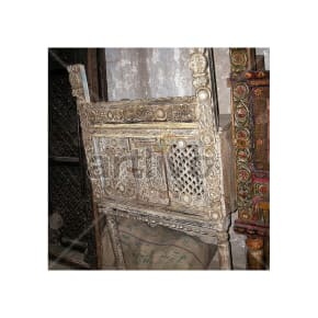 Antique Indian Beautiful Royal Solid Wood white color design Trunk