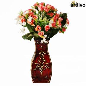 EMBOSSED Flamingo Flower Vase