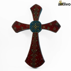 BOLD RED Wall Hung Cross - WH004