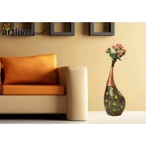Metal Designer Tall Flower Vase