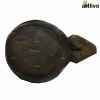 VINTAGE Old Wood Circular Spice Box