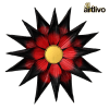 Iron Flower wall panel - Red and Black