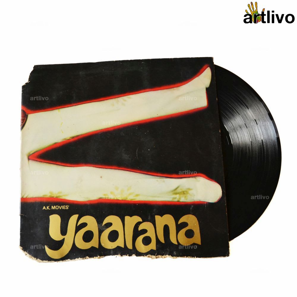 VINTAGE Gramophone Record - YAARANA (With Cover)