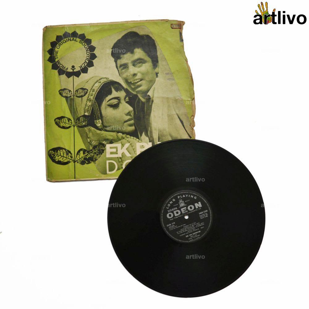 VINTAGE Gramophone Record - EK Phool Do Mali (With Cover)