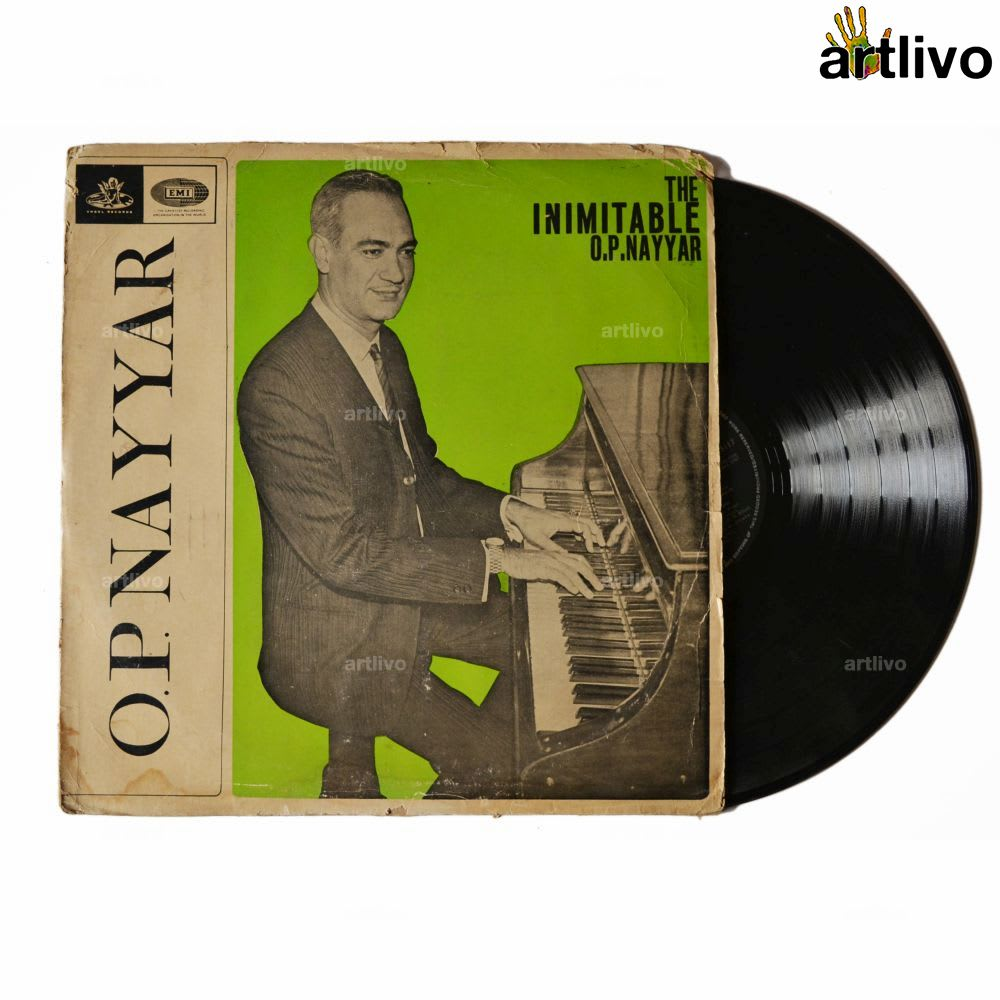 VINTAGE Gramophone Record - O P Nayyar (With Cover)