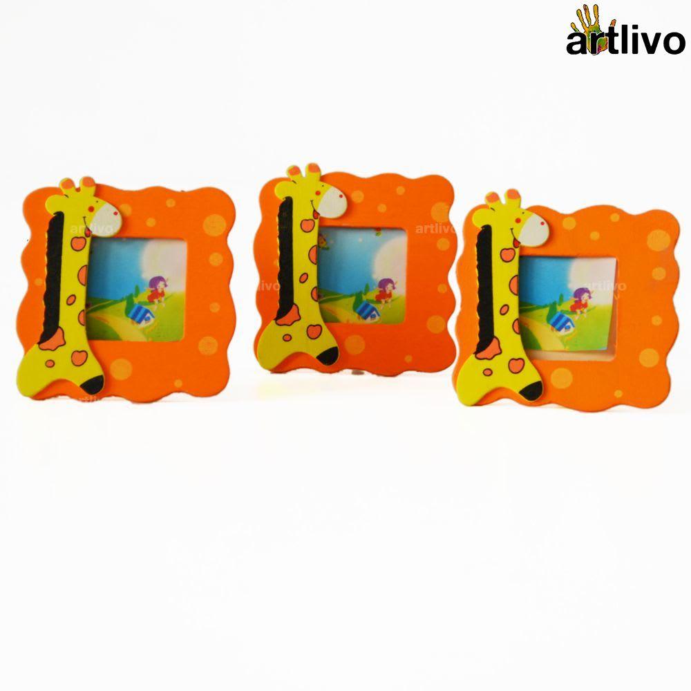 Kids Mini Photo Frame - Jiraffe - Set of 2