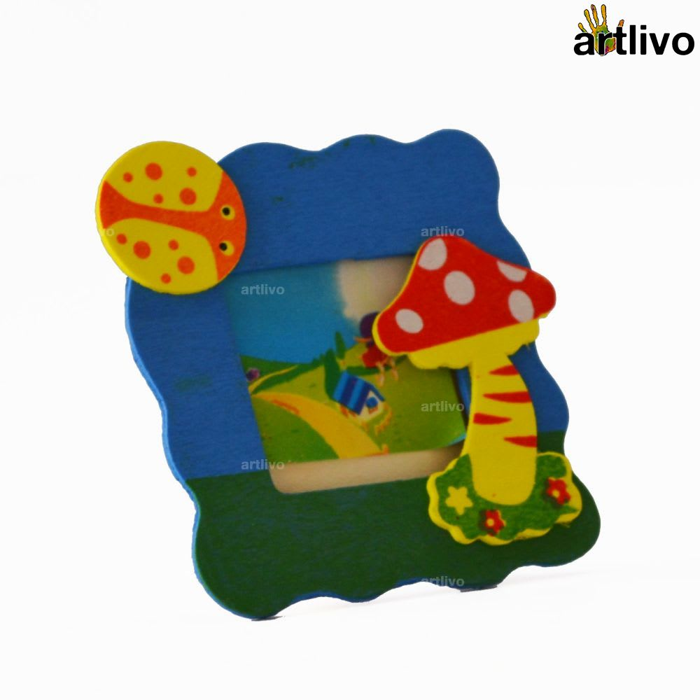 Kids Mini Photo Frame - Mushroom - Set of 2