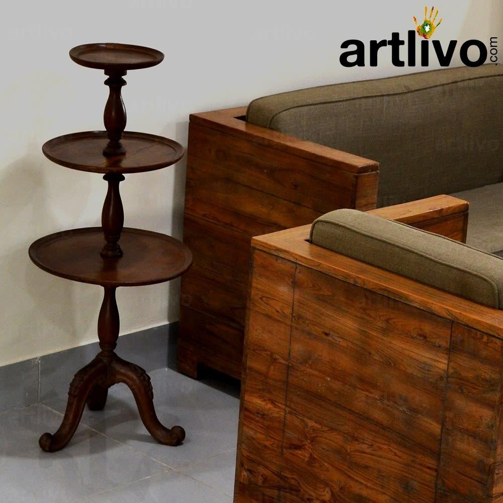 Vintage Three Tier Wooden Stand