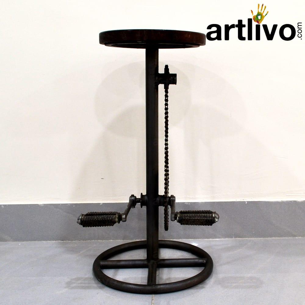 Iron cycle stool