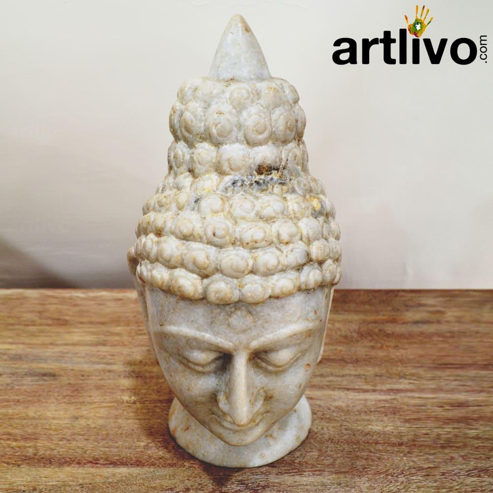 Marble budha head