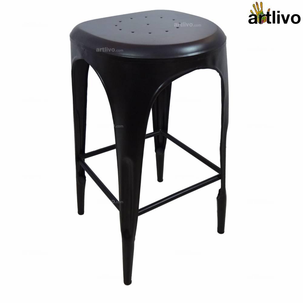POPART French Bar Stool - Black