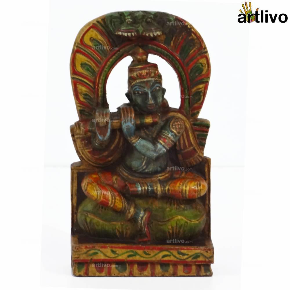 POPART Wooden Krishna with Flute