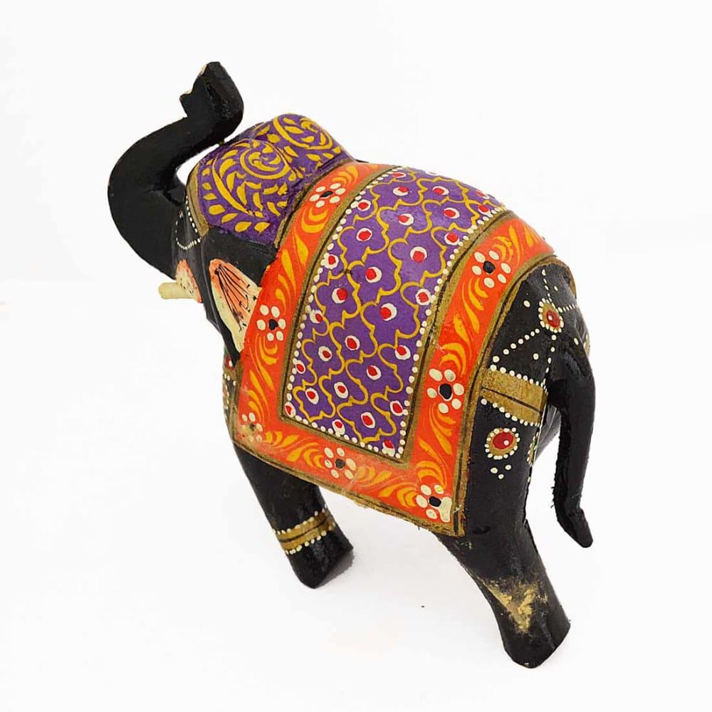POPART Multicolor Wooden Elephant Statue Table Decor - ST094