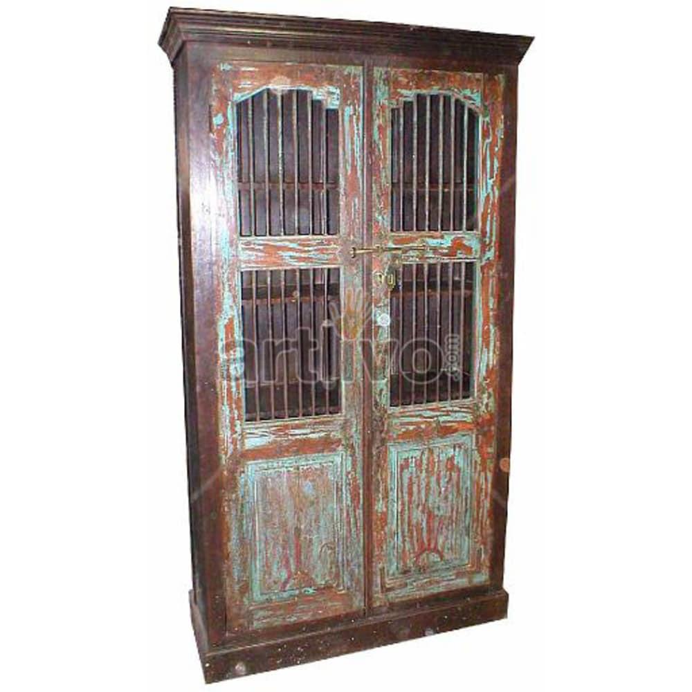 Vintage Indian Beautiful imperial Solid Wooden Teak Almirah
