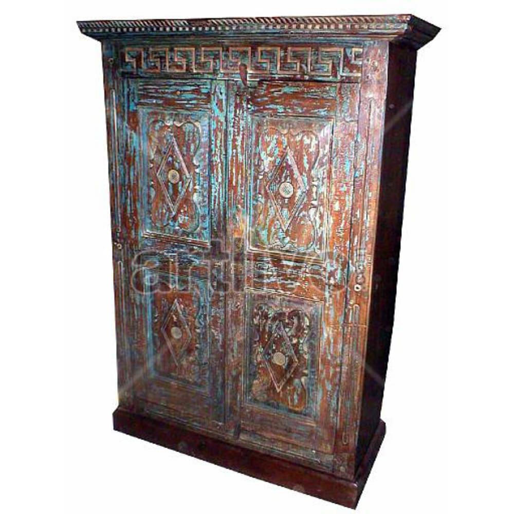 Old Indian Beautiful Luscious Solid Wooden Teak Almirah
