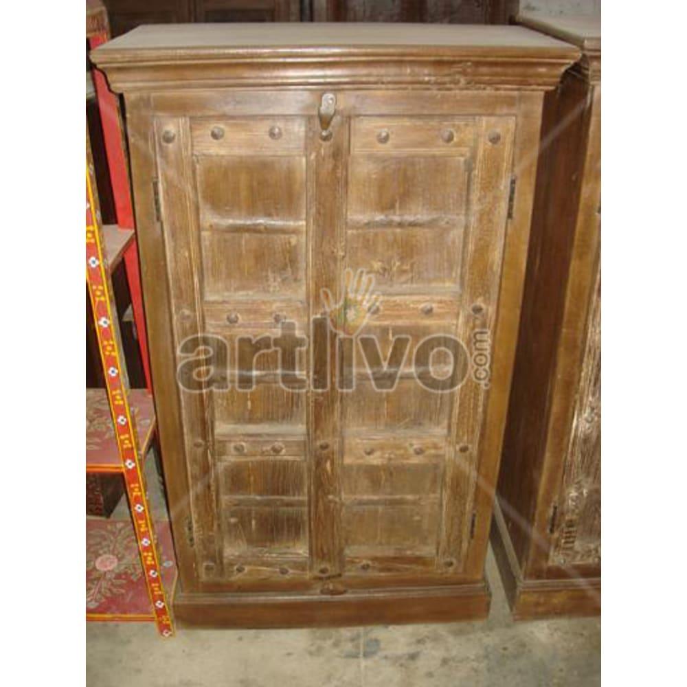 Old Indian Brown imperial Solid Wooden Teak Almirah