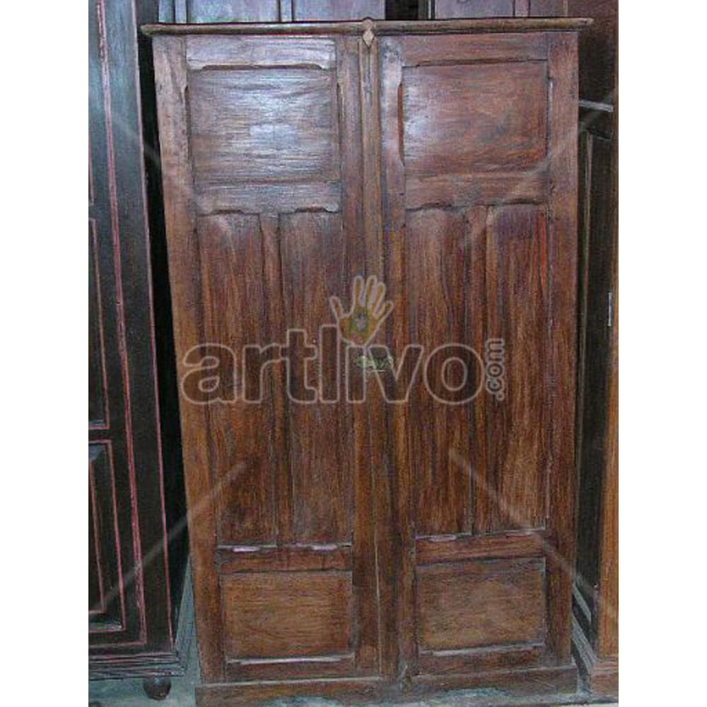 Restored Chiselled Lavish Solid Wooden Teak Almirah