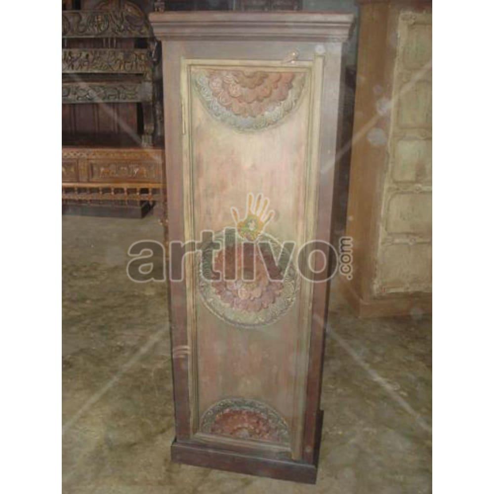 Restored Sculptured illustrious Solid Wooden Teak Almirah