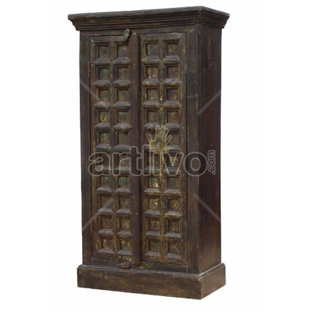 Restored Beautiful Supreme Solid Wooden Teak Almirah