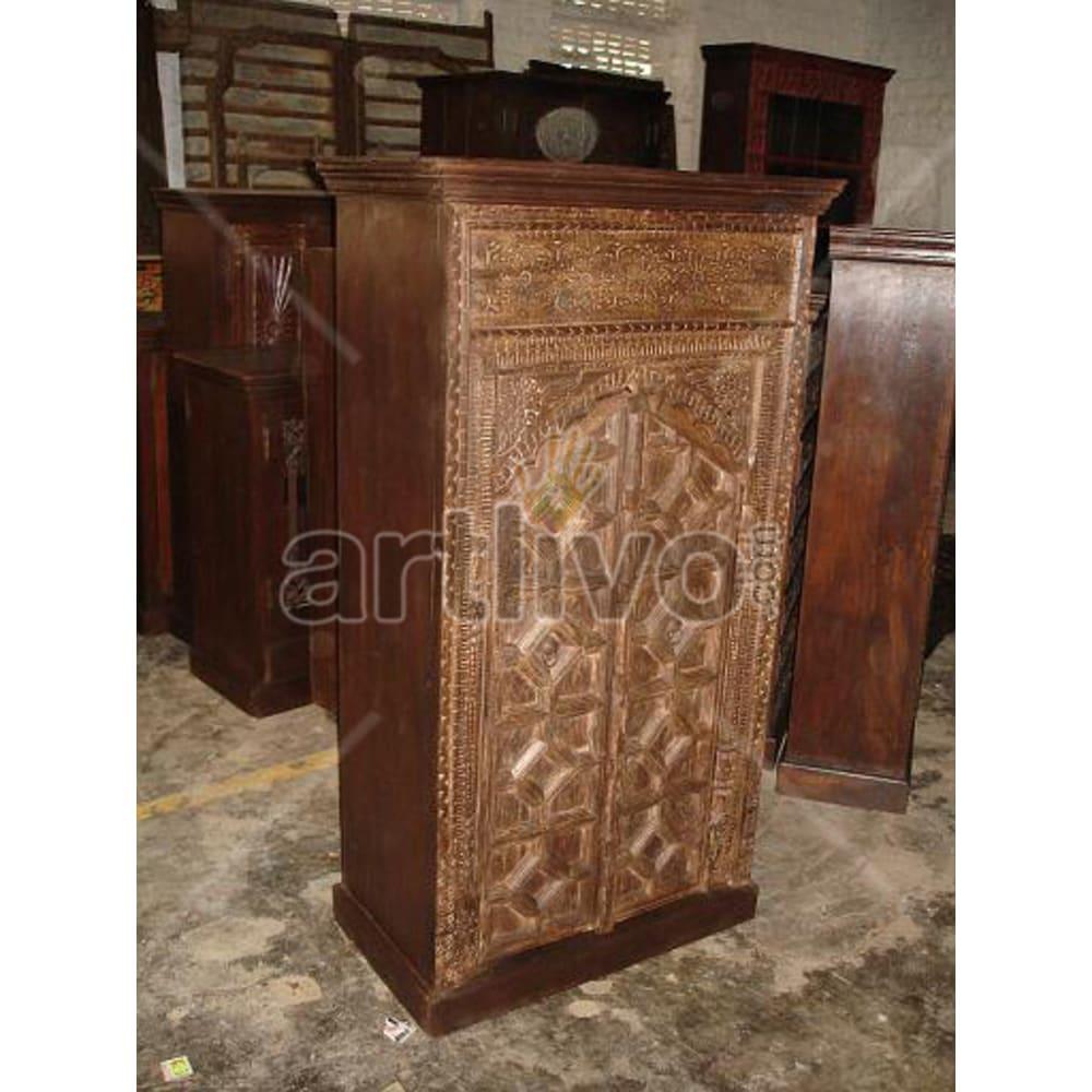 Restored Beautiful Superb Solid Wooden Teak Almirah