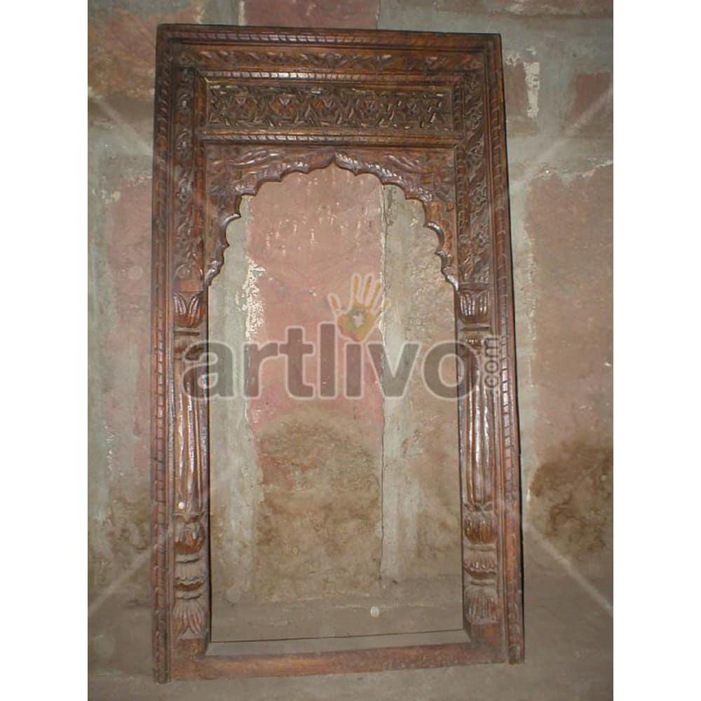 Antique Indian Chiselled Deluxe Solid Wooden Teak Door
