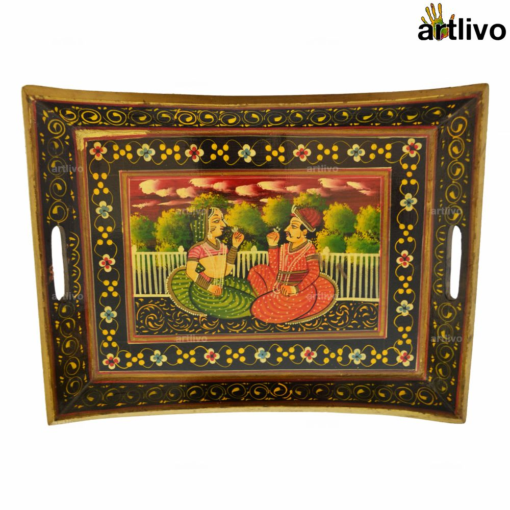 Mughal Painting Serving Tray
