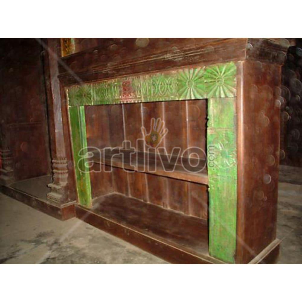 Vintage Indian Sculptured magnificent Solid Wooden Teak Sideboard
