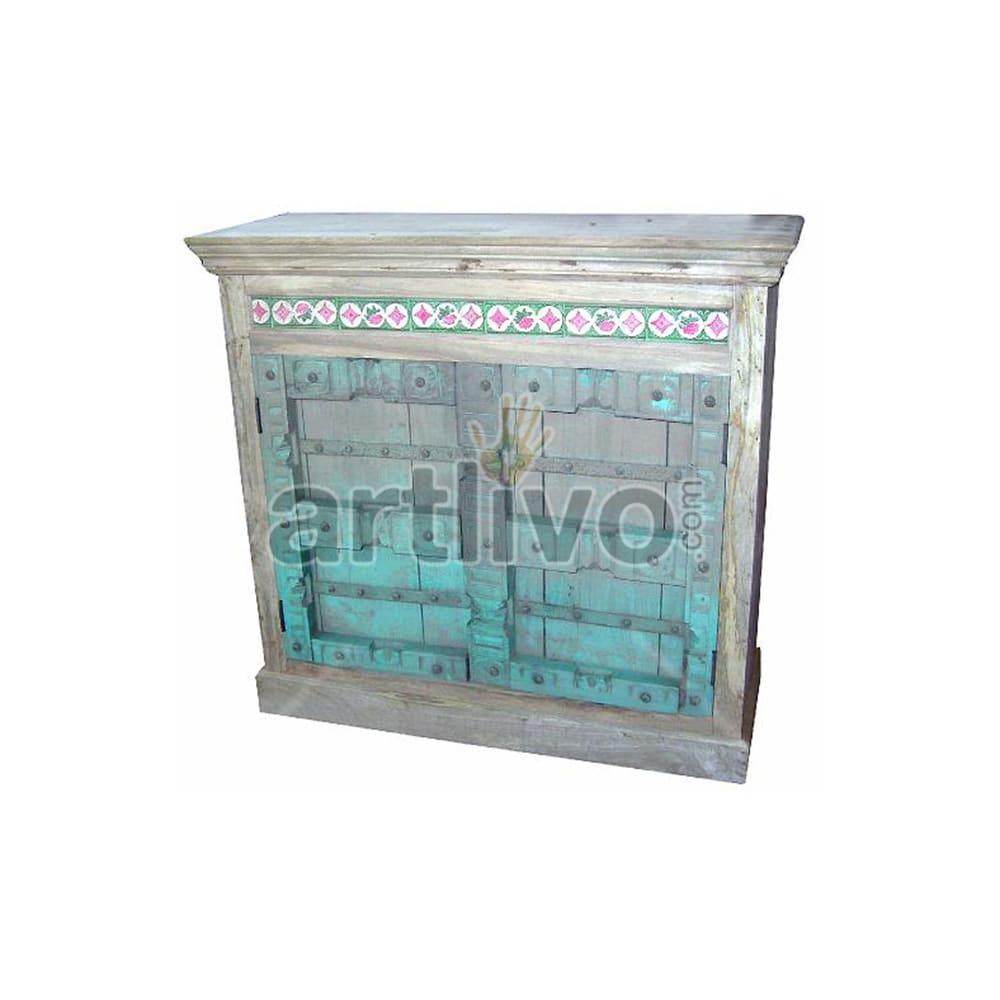 Antique Indian Sculpted Deluxe Solid Wooden Teak Sideboard